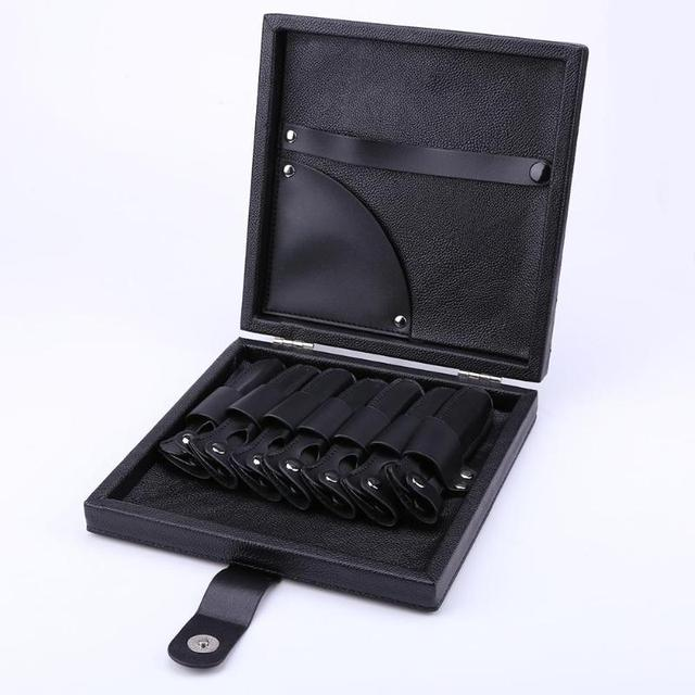 Professional Barber Hair Styling Scissors Case High Quality PU Leather Shear Comb Organizer Storage Box For Hair Cutter Scissors