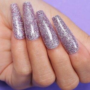Image 4 - AZURE BEAUTY, 16 шт./лот, пустотелый порошок для дизайна ногтей, базовый гель для ногтей, набор, градиентный цвет, блестящий порошок для ногтей
