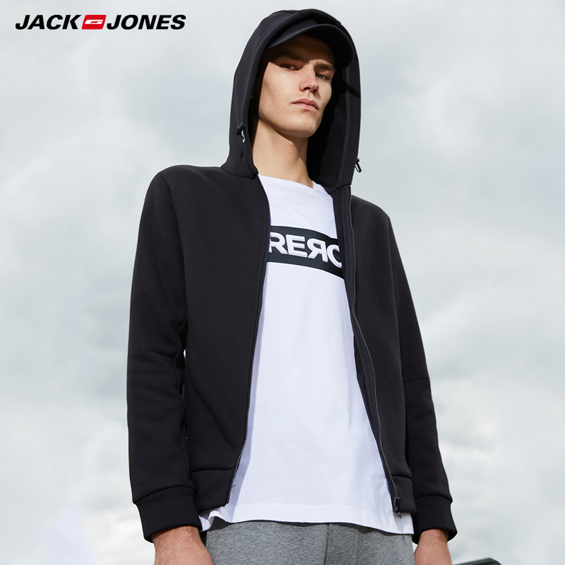 Jack Jones Printed Sports Style Pure Color Cardigan Hoodies  | 218333524