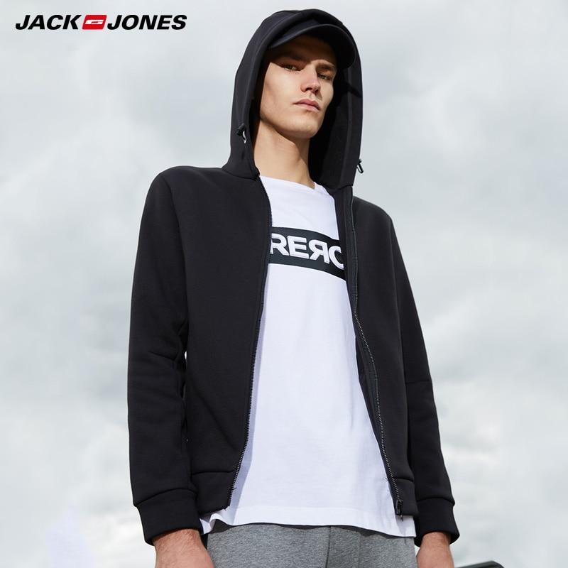 Jack Jones Printed Sports Style Pure Color Cardigan Hoodies    218333524