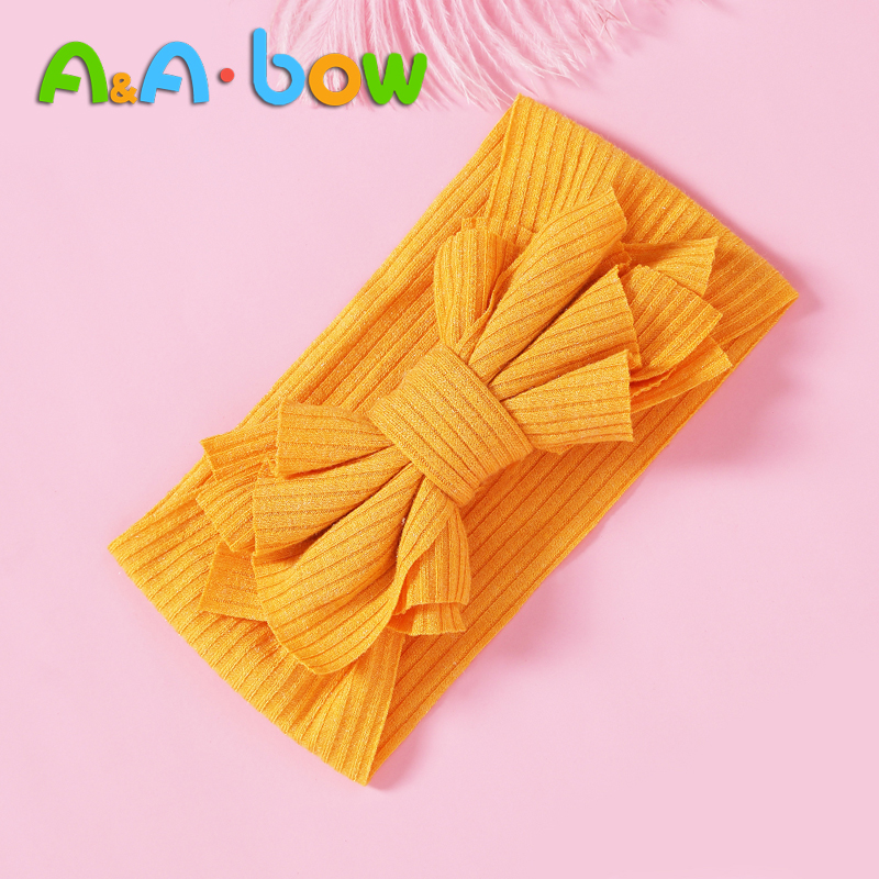 1PCS Baby Girl Headbands For New Bron Nylon Baby Bow Headband Tuban For Baby Hair Accessories 15 Colors