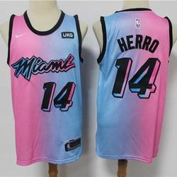 2021 City Edition NBA Men's Miami Heat #14 Basketball Jersey Earned Swingman Jersey #14 Herro Mesh Stitched Men Jersey
