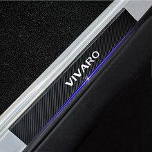 4 pçs para opel vivaro placa de chinelo do carro fibra carbono limiar da porta do peitoril adesivos cobertura automóvel painel protetor passo acessórios