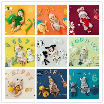 Newborn Studio Shooting Photo Prop 100 Days Photo Frame Costume Photo Background Prop Creative DIY Theme Photographic Clothing