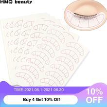 70pairs/pack Paper Patches 3D Eyelash Under Eye Pads Lash Eyelash Extension Practice Eye Tips Sticker Wraps Makeup Tools
