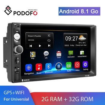 Podofo 2din Radio de coche 2 + 32G Android8.1 GPS Navi WiFi reproductor Multimedia para auto VW TOYOTA GOLF Nissan Hyundai Kia CR-V autoradio