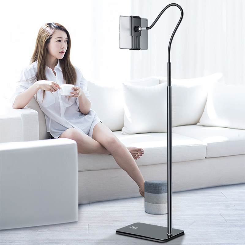 Adjustable Tablet Floor Stand holder Treadmill Bed 4.6-10.5 Inch Tablet Phone Holder Flexible Gooseneck Stable Base for Ipad air