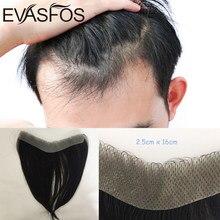 Передний мужской парик из 100% человеческих волос для мужчин, V-образный парик, парик без повреждений, волосы с тонкой основой, натуральный пар...