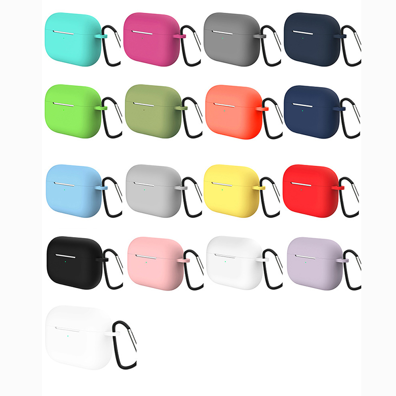 Ultra-thin Silicone Case For Apple Airpods Pro Earphone Case Wireless Bluetooth Headset Cover Shockproof Bag For Air Pods Pro 3
