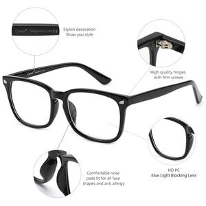 Image 4 - Cyxus bleu lumière ordinateur lunettes pour bloquer les maux de tête noir PC lentille jeu lunettes unisexe (hommes/femmes) 8582