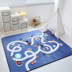 Image 2 - Child Play Mats Baby Crawling Mat Velvet Slow Rebound Thickened Carpet Anti skid Crawling Pad Decorate Living Room for Children