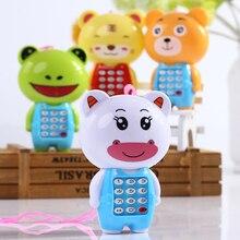 Детский музыкальный телефон с героями мультфильмов, Детские кнопки, телефонные игрушки дошкольное образование, обучающая светодиодная световая игрушка, мобильный телефон, подарок для детей