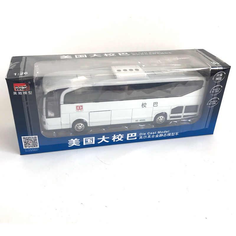 MZ 1: 28 אמריקה בכיר קולונל אוטובוס מתכת צליל מכונית אור לוחם רכב דגם ילדים צעצוע 25061 התאגרף