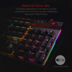 Image 2 - Redragon K580 VATA Mechanical Gaming Keyboard RGB LED Backlit 104 Keys Anti Ghosting Macro Keys Blue Switches for DOTA 2 Gamers