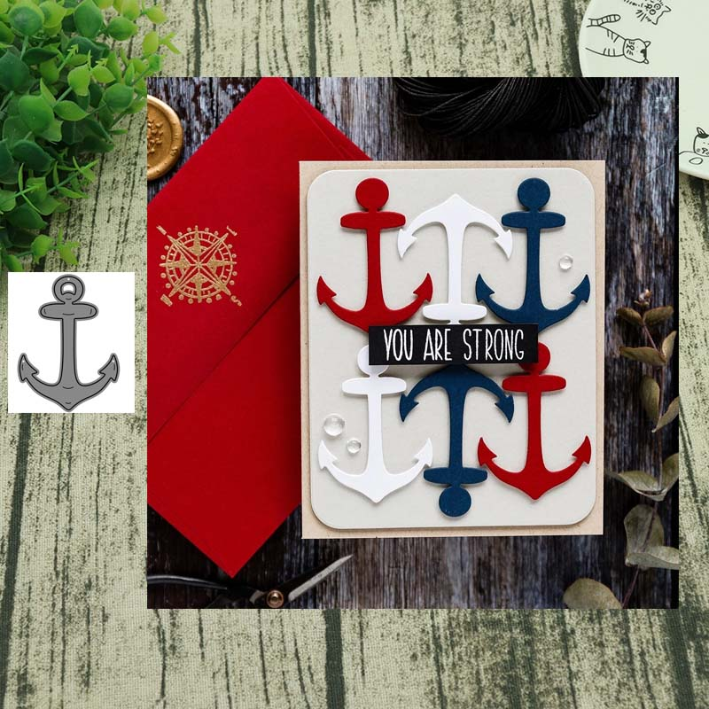 Anchor metal cutting dies cut die mold decoration Scrapbooking Embossing paper craft mould punch stencils