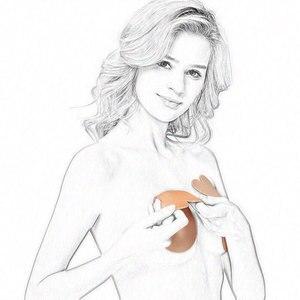 9 CM-13 CM Plus Größe Kaninchen Nippel Abdeckung Brust Blütenblätter Intimates Zubehör Push-Up-Bh Unsichtbar Wiederverwendbare Brust aufkleber 1 Paar