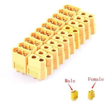 10 sztuk XT60 XT-60 mężczyzna kobieta XT30 XT90 wtyczki złącza pociskowe dla akumulator do RC Lipo tanie i dobre opinie QYWWRC CN (pochodzenie) NYLON xt60 bullet connectors Akcesoria do serwomechanizmów Pojazdów i zabawki zdalnie sterowane