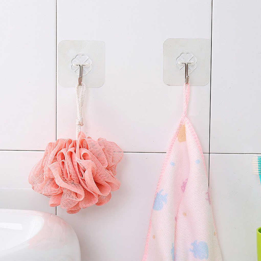 2 uds. Ventosa transparente fuerte ganchos de pared para la cocina baño aspiradora de acero inoxidable 6cm * 6cm