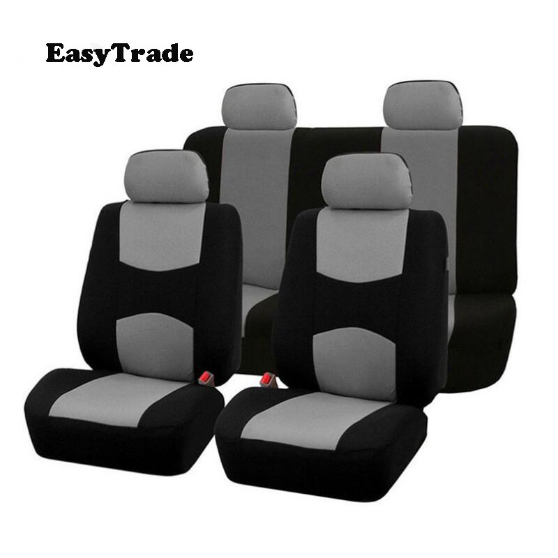 9PCS Universal Fabric Full Set Car Seat Cover Protector Cushion For Volkswagen VW TIGUAN MK2 2017 2018 2019 Accessories image