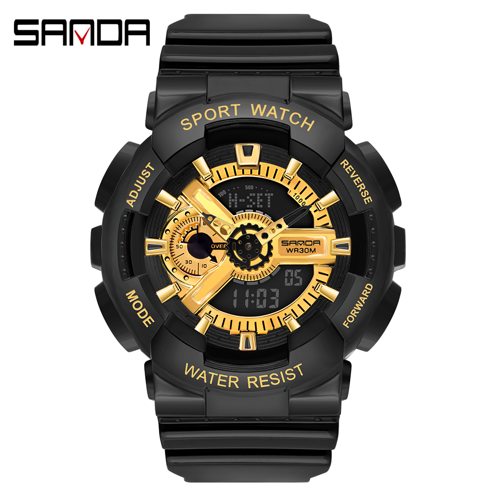 2020 SANDA Military Men's Watch Top Brand Luxury Waterproof Sport Wristwatch Fashion Quartz Clock Couple Watch relogio masculino 23