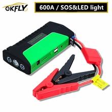 GKFLY 높은 전원 점프 스타터 600A 다기능 휴대용 보조베터리 12V 자동차 배터리 부스터 비상 시작 장치 케이블