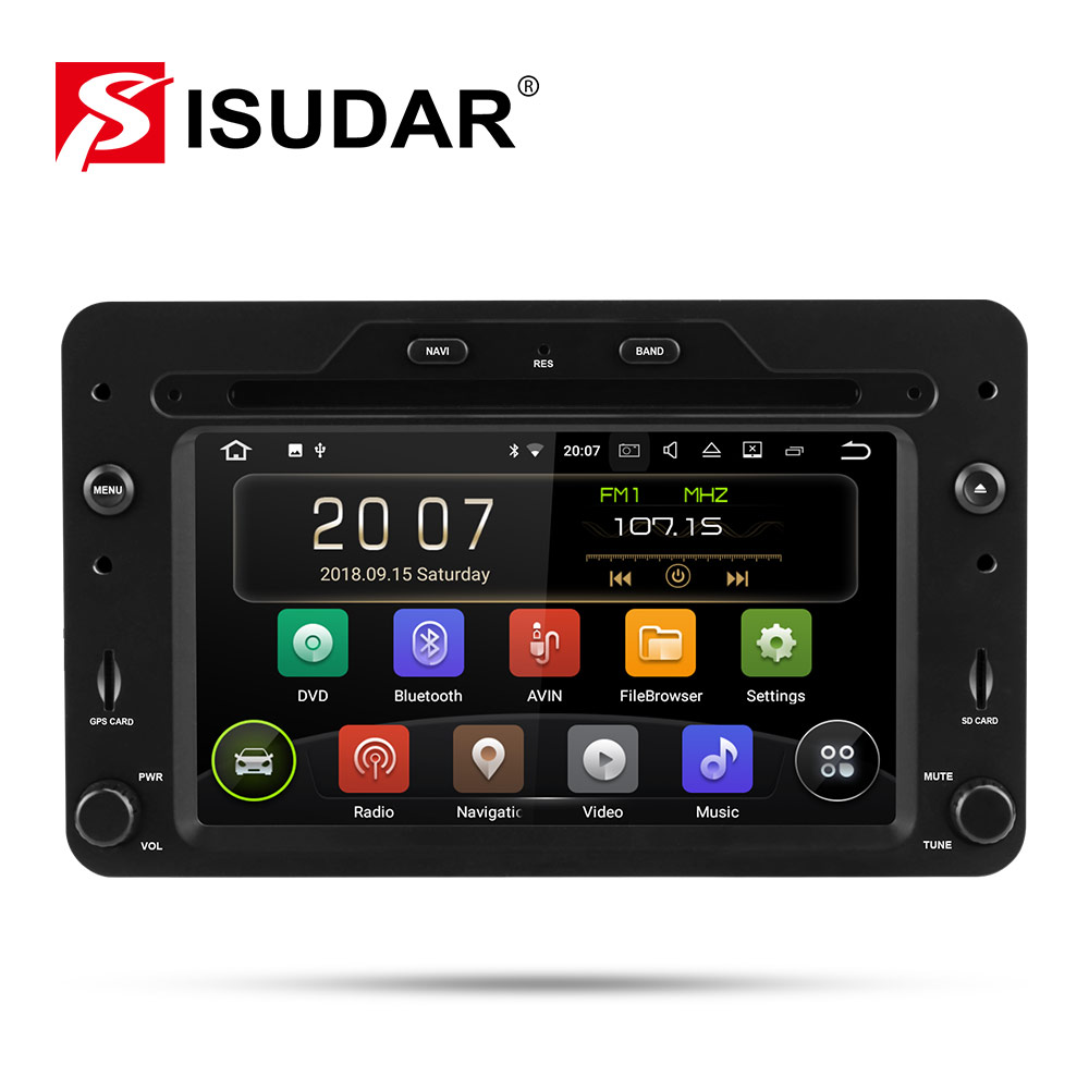 Isudar 9 1 Din Android Rádio Auto Para Alfa/Romeo/Spider/Brera/159 Sportwagon RAM 2G de Vídeo Multimídia Carro DVD Player GPS DVR USB