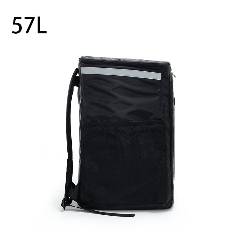 57L Takeaway Backpack Insulated Waterproof Pizza Delivery Car Meal Box Layered Refrigerator Pack