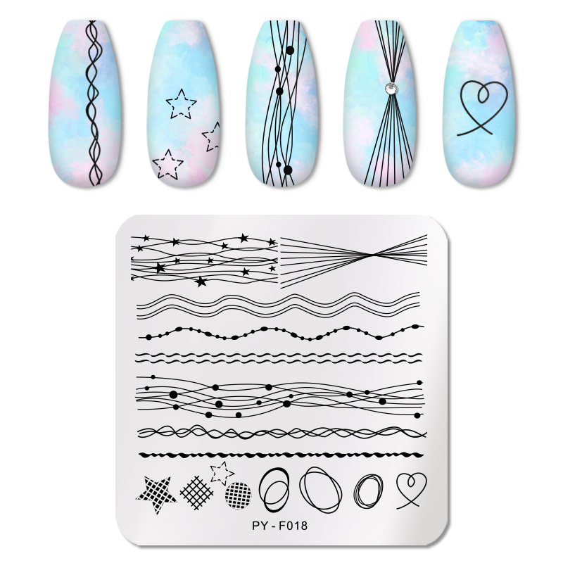 PICT YOU 12*6cm Nail Art Templates Stamping Plate Design Flower Animal Glass Temperature Lace Stamp Templates Plates Image 10