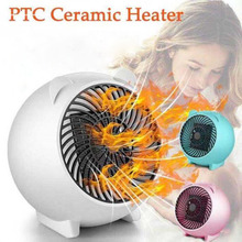 110V 220V 500W Portable Mini Electric Home Heater Fan Handy Air Warmer Silent Heating For Home Office With EU US Plug To Choose 220v midea electric heating furnace fan ns8 13f