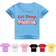 2-15 old year Fashion game T-shirt Children Boys and girl Short Sleeves White Tees Baby Kids Cotton Tops For Girls Clothes(China)