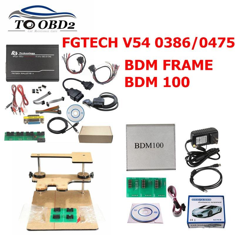 ECU Chip Tuning Tool FGTECH Galletto 4 V54 Auto Lkw V1255 BDM100 ECU Programmierer BDM rahmen Prüfung jig für BDM100 fgtech Chip