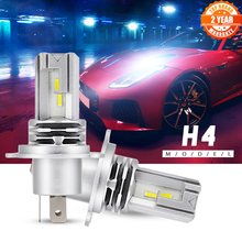 Novsightミニ車H4 led H7 ledヘッドライト電球H9 H8 H11 ledランプH7 12v 24v 9005 HB3 9006 HB4 オートヘッドランプフォグランプキット