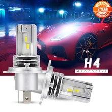 Novsight mini carro h4 led h7 led farol lâmpadas h9 h8 h11 conduziu a lâmpada h7 12v 24 9005 hb3 9006 hb4 faróis de nevoeiro luzes kit