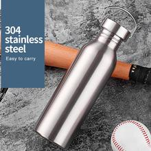 Stainless Steel Water Bottle Thermos Flask Leak-proof Single Wall Insulated Large Capacity Wide Mouth Hot Cold Water Bottle цена 2017