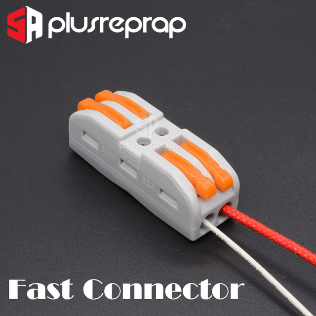 3D Printer Parts Super Wire Connection Fast Connector For Ceramic Cartridge Heater Heating Tube Thermistor 100k Ntc 3950 Hotend