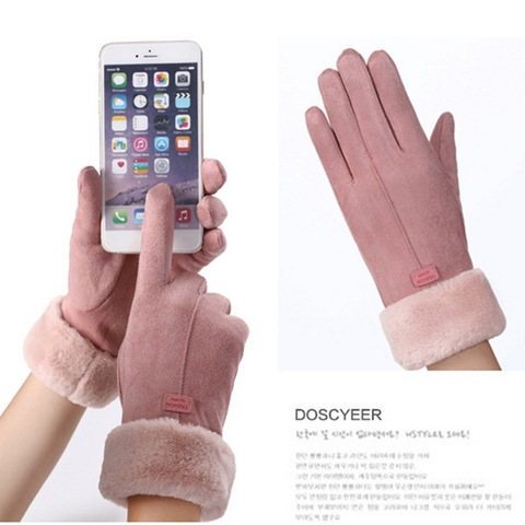 2020 New Fashion Women Gloves Autumn Winter Cute Furry Warm Mitts Full Finger Mittens Women Outdoor Sport Female Gloves Screen Lahore