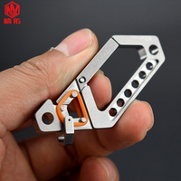 1PC Titanium Alloy Car Keychain Key Chain Ring Hanging Buckle Quick Hook Custom Lettering Multifunction EDC Outdoor Pocket Tool