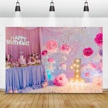 Laeacco мечтательный розовый малыш 1 й День Рождения фотография
