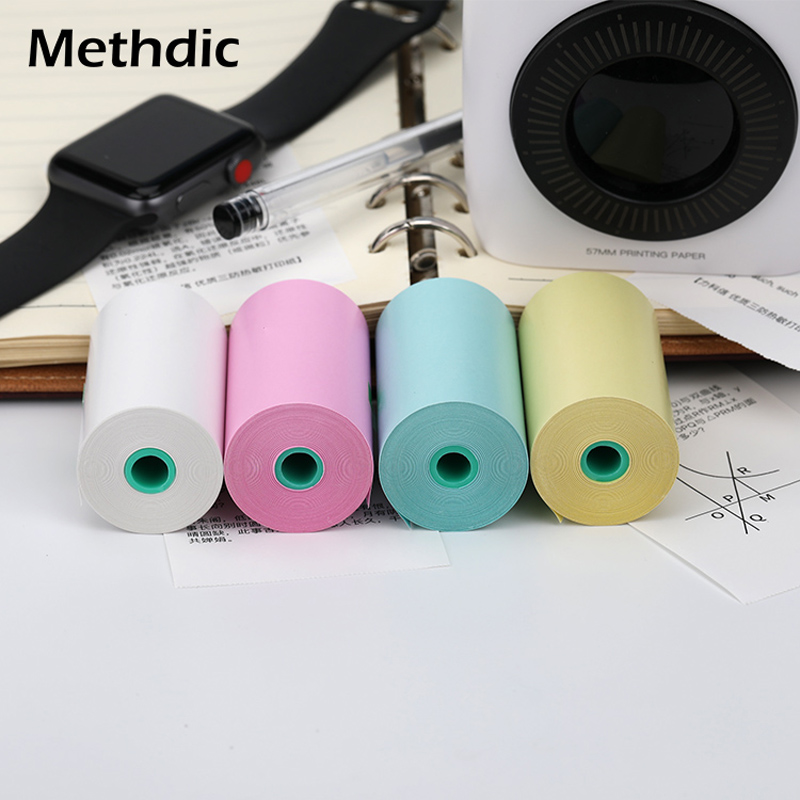 4Pcs/Set Colorful Thermal Printing Paper 10 Meters For Small Pos Machine