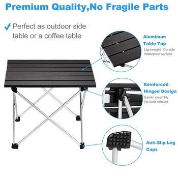 Mesa de Camping plegable portátil mesa de escritorio de aluminio adecuado para Picnic al aire libre barbacoa cocina vacaciones senderismo playa viajes