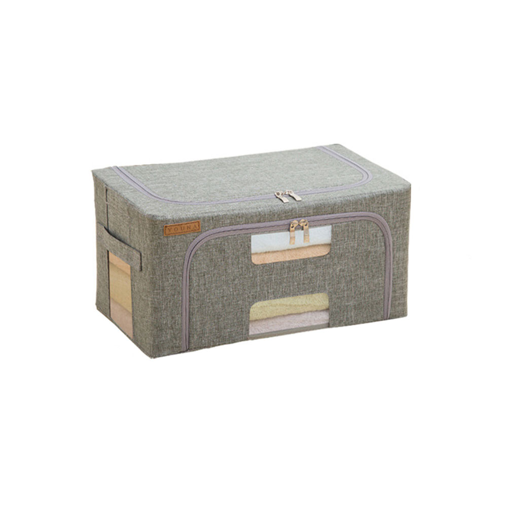 20L Home Storage Box Waterproof Oxford Cloth Quilt Finishing Box  Steel Frame Large Folding Large Capacity Clothes Storage Box