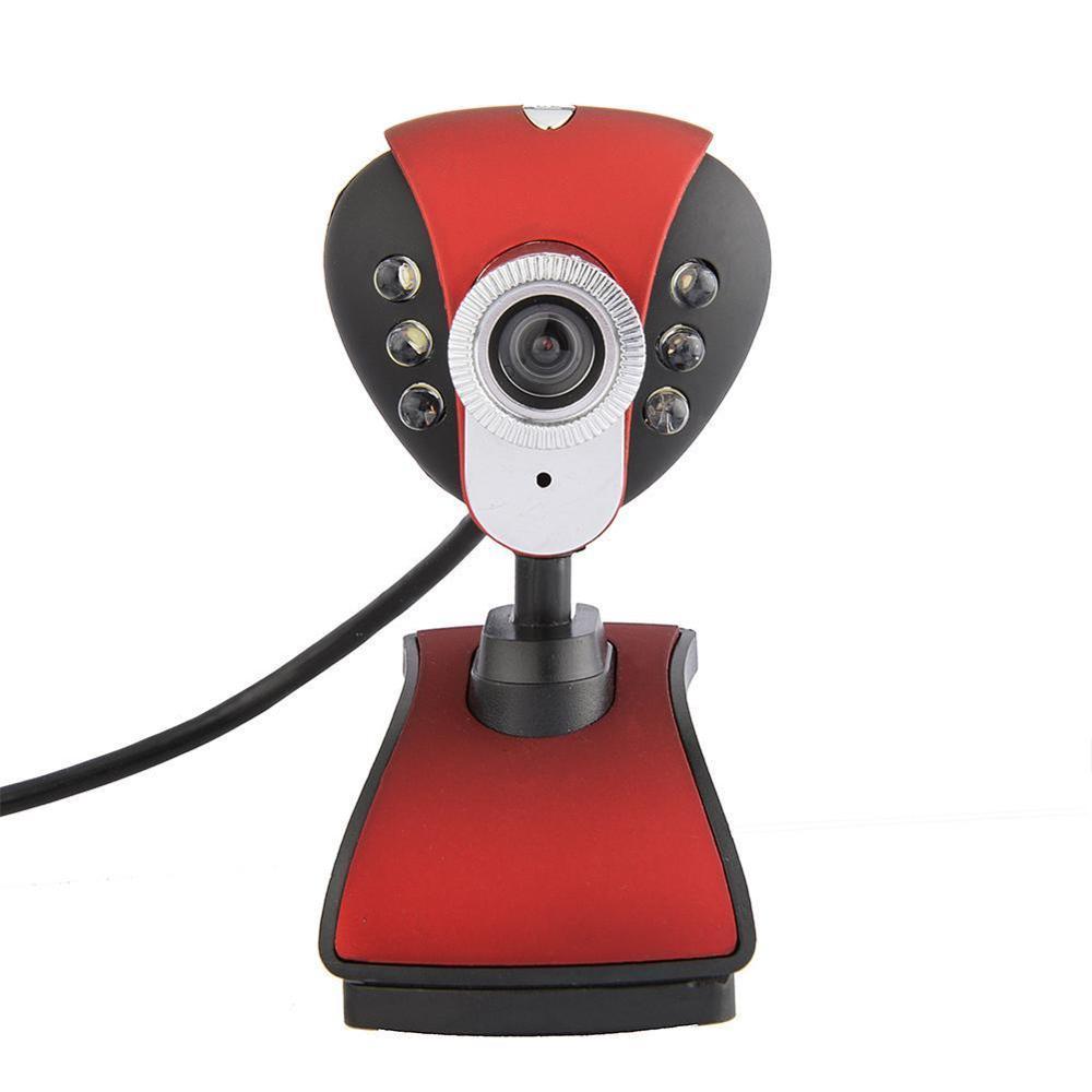 USB 2.0 Webcam 50 mega Pixel HD 6 LED PC Camera HD Web cam Desktop Web Camera with Mic Microphone for PC Laptop Camera