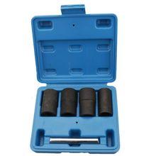 5 Pcs Car Tire Nut Extractor Damaged Sliding Removal Tool Spiral Anti-skid Sleeve Set