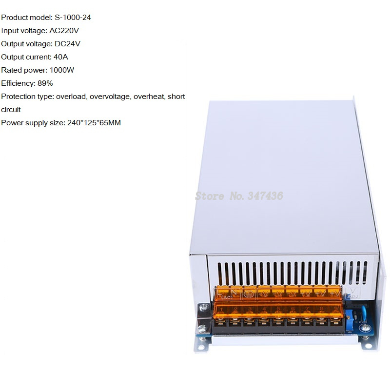 AC220 to DC12V <font><b>24V</b></font> <font><b>40A</b></font>-30V 36V 48V 20A high <font><b>power</b></font> DC <font><b>switching</b></font> <font><b>power</b></font> <font><b>supply</b></font> S-1000W image