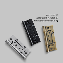 5 Inch/ Hinges Wood Door Hinges Gate Hinges Stainless Steel Black Mute Bearing Hinges Hardware 4 x4 x3mm stainless steel gold mute door hinges heavy duty hinges new