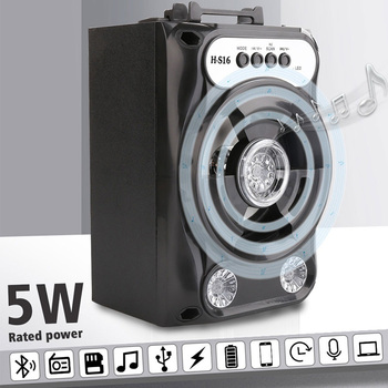 Bluetooth Speaker With Led Light for Outdoor Travel 4