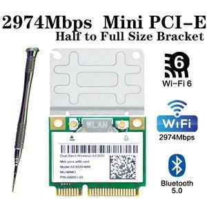 3000 Мбит/с Wi-Fi 6 беспроводной сетевой адаптер мини PCI-E карта Bluetooth 5,0 ноутбук Wlan Wi-Fi карта 802.11ax/ac 2,4G/5 ГГц Windows 10
