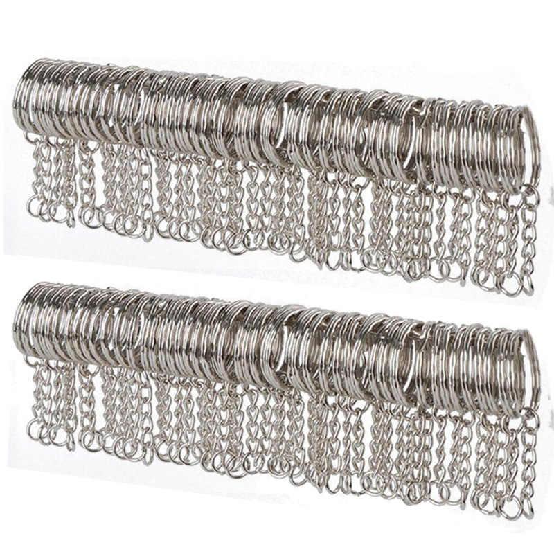 10/50 Stuks Metalen Zilver Blank Sleutelhanger Sleutelhanger Split Ring Sleutelhanger Key Holder Hanger Ringen Auto Thuis Diy Sleutel kettingen Accessoires