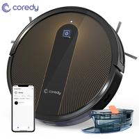 Coredy R750 Robot Vacuum Cleaner Smart Wet Electric Mopping Floor Carpet Auto Charge Planned Home with Alexa Google Wifi APP