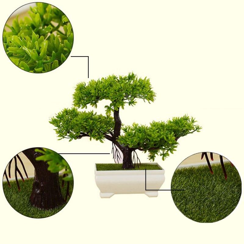 ND/_ Artificial Plant Tree Bonsai Fake Potted Ornament Home Hotel Garden Decor